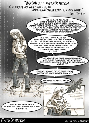 Fate's Bitch - lesbian comic strip by Chloe Matthews