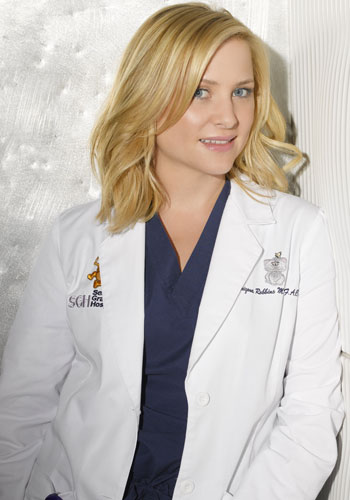 Jessica Capshaw as Arizona Robbins in Grey's anatomy